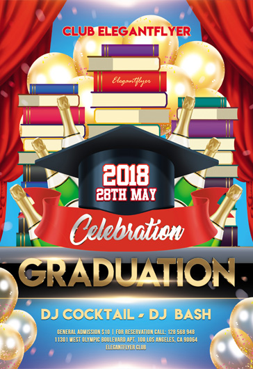 Graduation – Flyer PSD Template