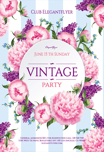 Vintage – Flyer PSD Template