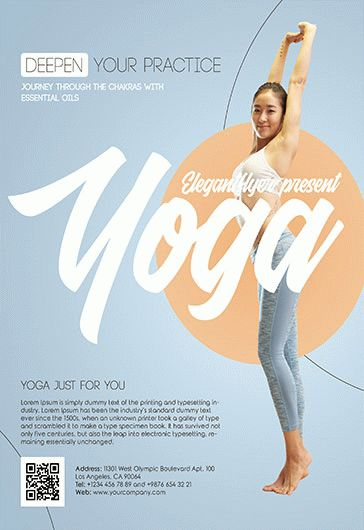 Yoga Poses Training PSD Poster