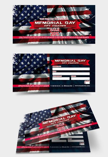 Voucher Memorial Day Template