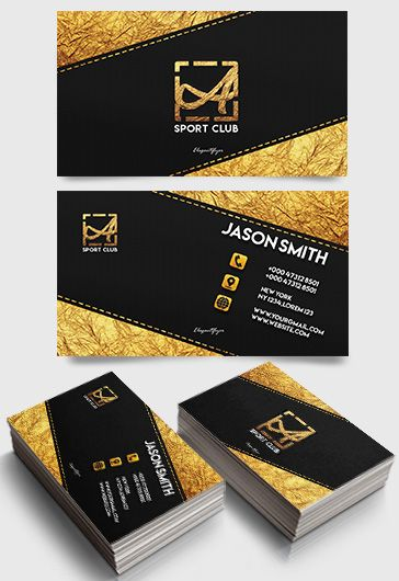 Sport Club Business Card Template