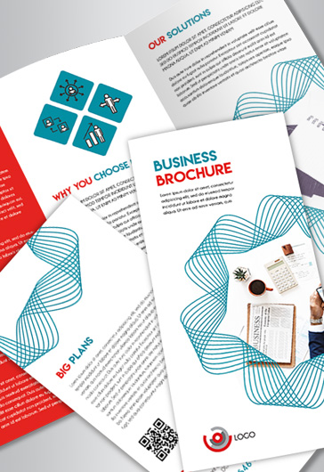 business free tri fold brochure psd template