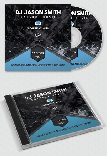 Techno Music СD Cover Template