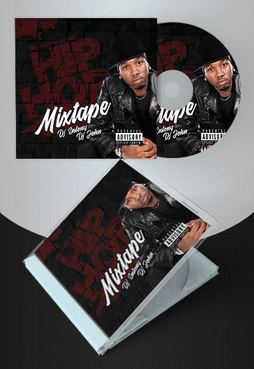 Hip-Hop Mixtape – Free CD Cover PSD Template