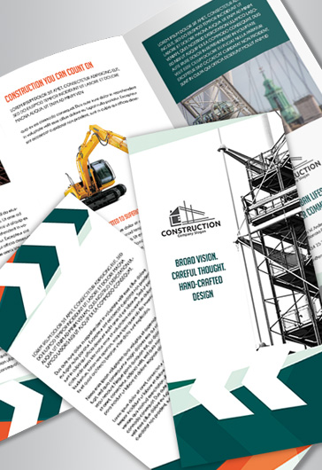 Construction – Tri-Fold Brochure PSD Template
