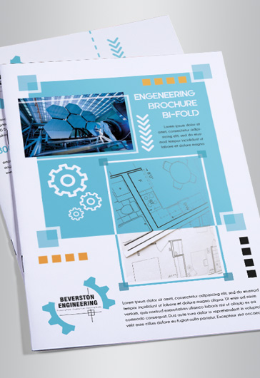 Engineering – Bi-Fold Brochure PSD Template