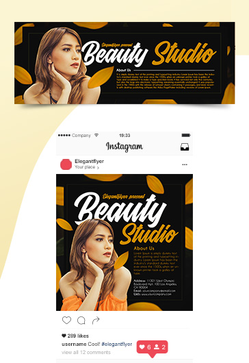 Beauty Studio – Premium Facebook Cover