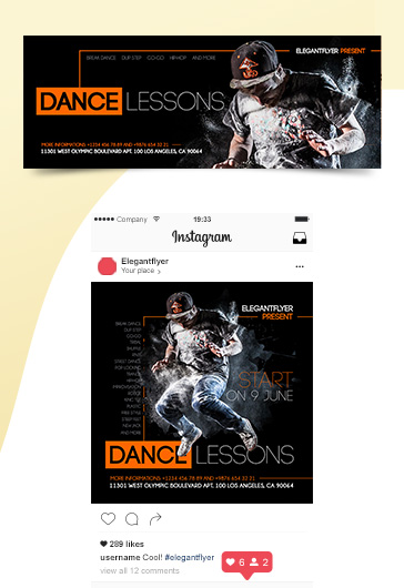 Dance Lessons – Premium Facebook Cover