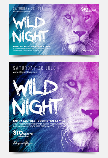 Glamour party – Flyer PSD Template