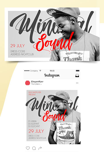 Minimum Party – Flyer PSD Template