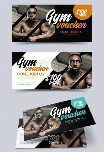 Free Template for Gym Gift Certificate