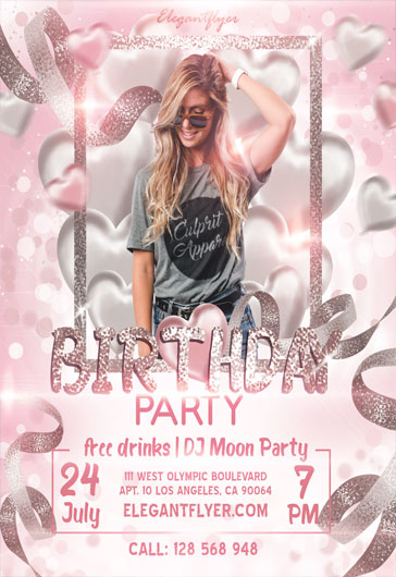 Heart Party – PSD Flyer Template + Facebook Cover + Instagram Post