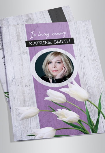 in Loving Memory Funeral Program