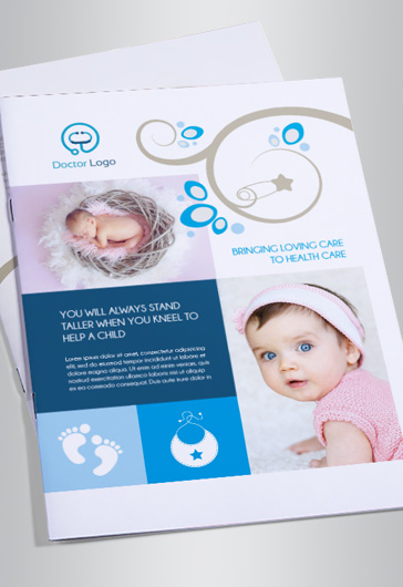 Pediatric Doctor – Bi-Fold Brochure PSD Template
