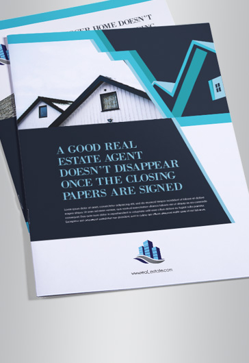 Real Estate – Bi-Fold Brochure PSD Template