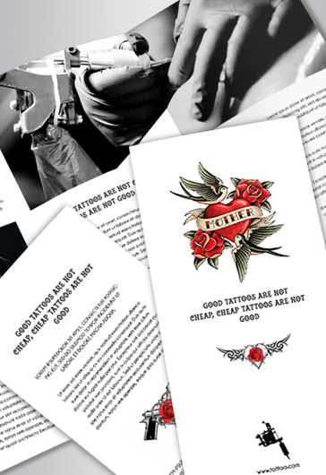 Tattoo – Tri-Fold Brochure PSD Template