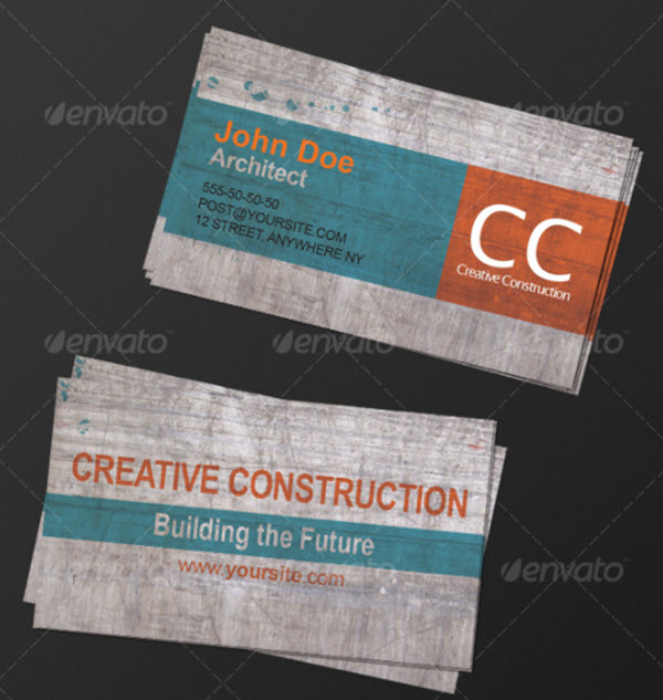 20 Business Card PSD and Vector Designs for Architects and Designers