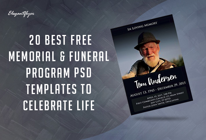 Funeral & Memorial Programs: 20 Free PSD Templates to Celebrate the Life
