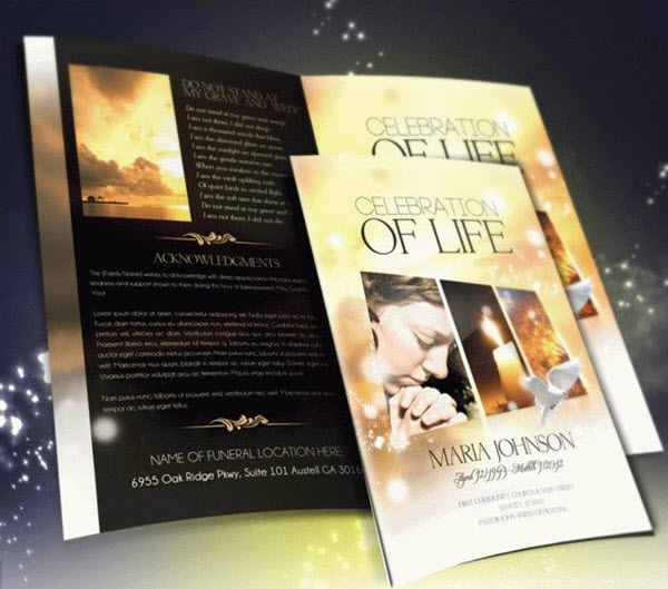 funeral memorial programs 20 free psd templates to celebrate the