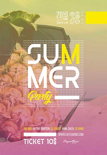Summer Party – Free Flyer PSD Template