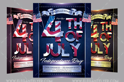 20 Free and Premium PSD Flyers for Independence Day Celebration 2018