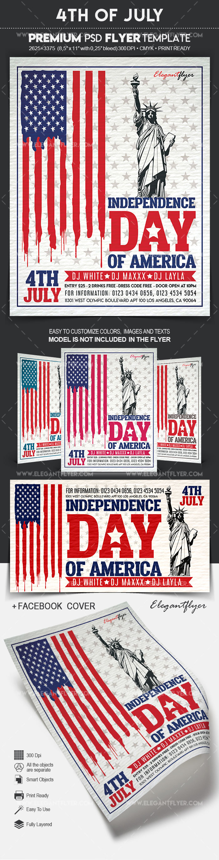 4th of July – Flyer PSD Template