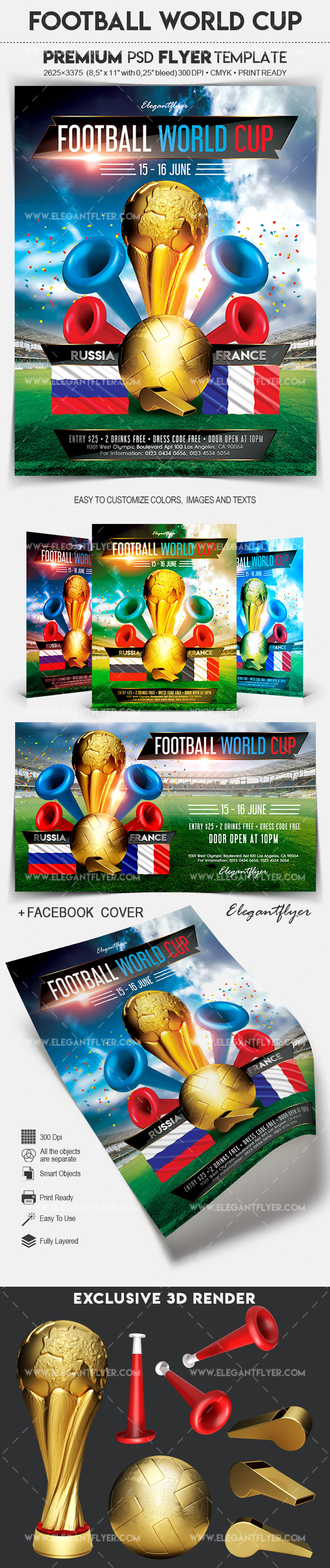 Football World Cup – Soccer Flyer PSD Template