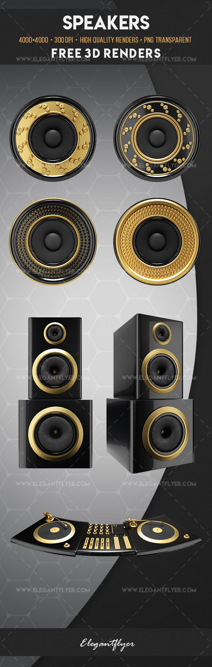 Speakers – Free 3d Render Templates