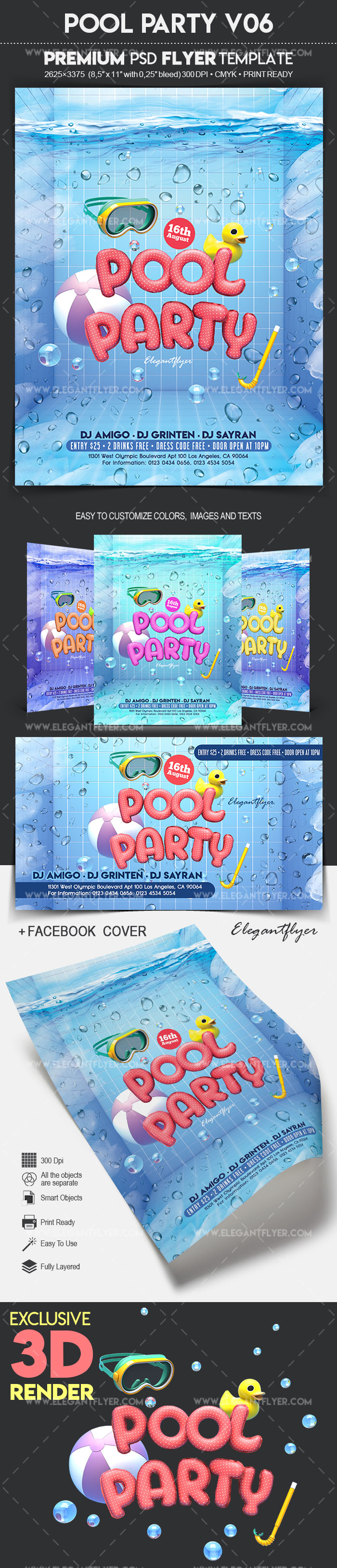 Pool Party V06 – Flyer PSD Template