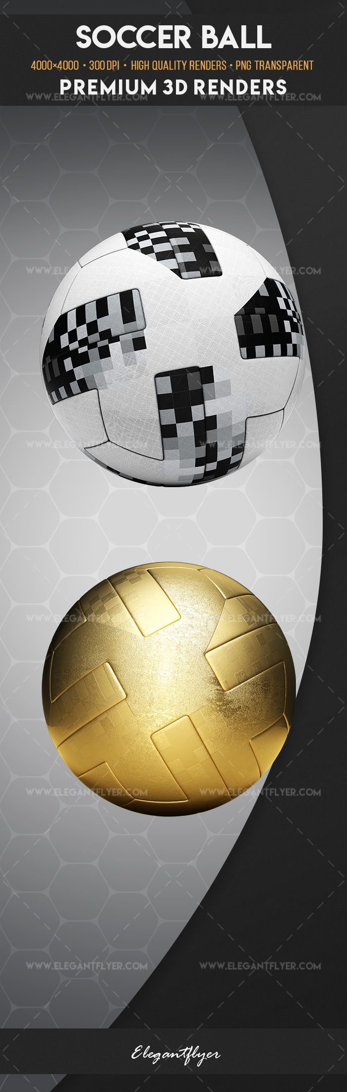 Soccer Ball – Premium 3d Render Templates