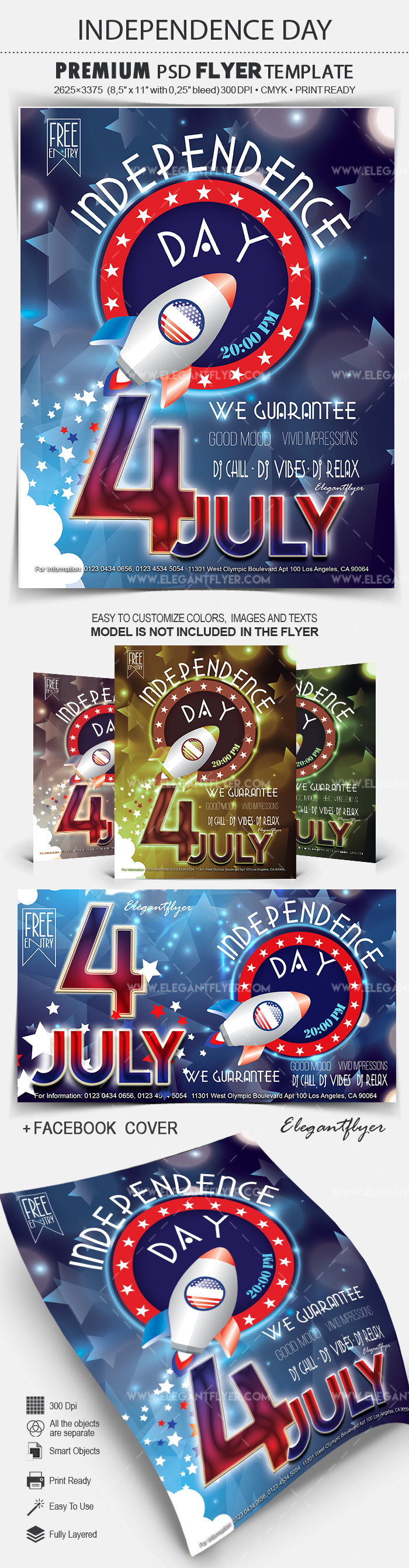 Independence Day 4 July – Flyer PSD Template