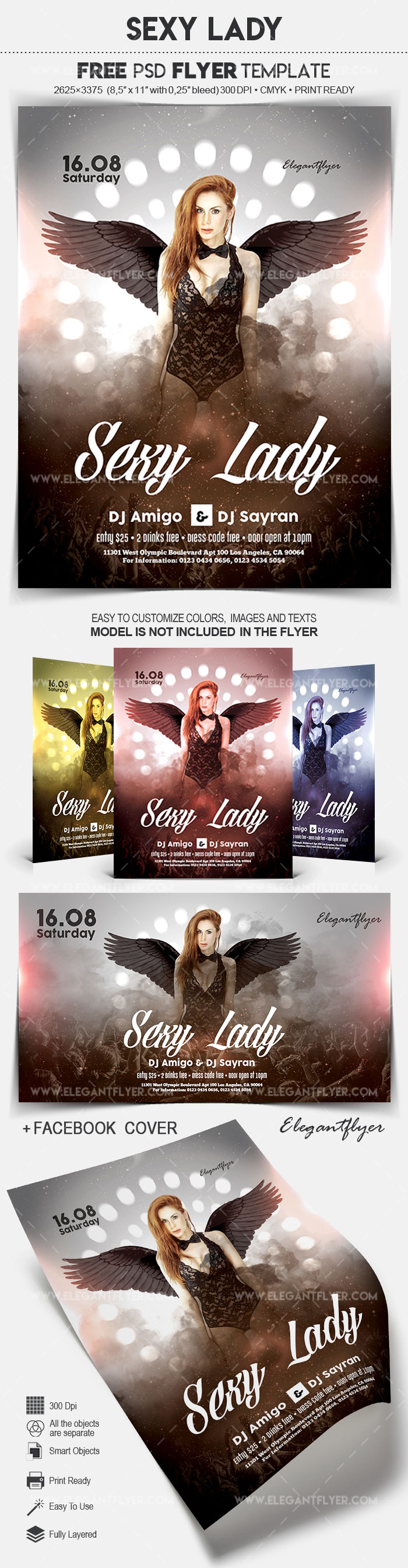 Sexy Lady – Free Flyer PSD Template