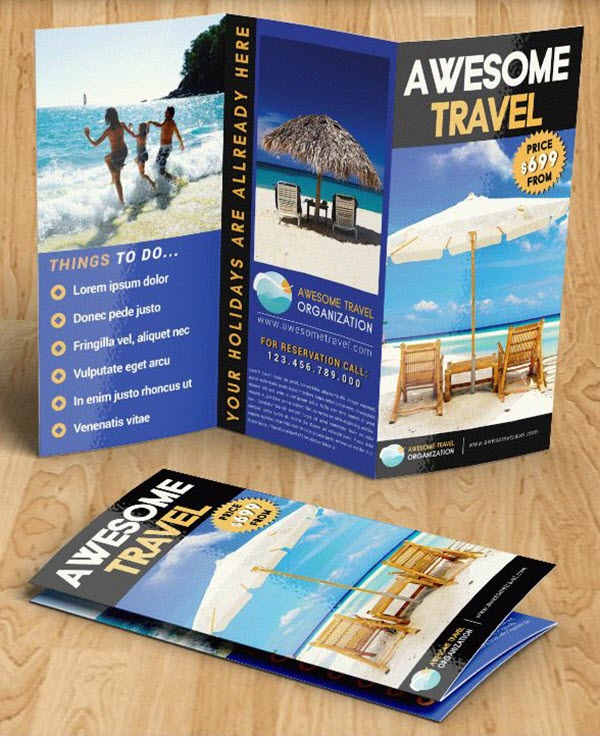 Top 20+ Free Vacation & Travel Brochure Templates in PSD