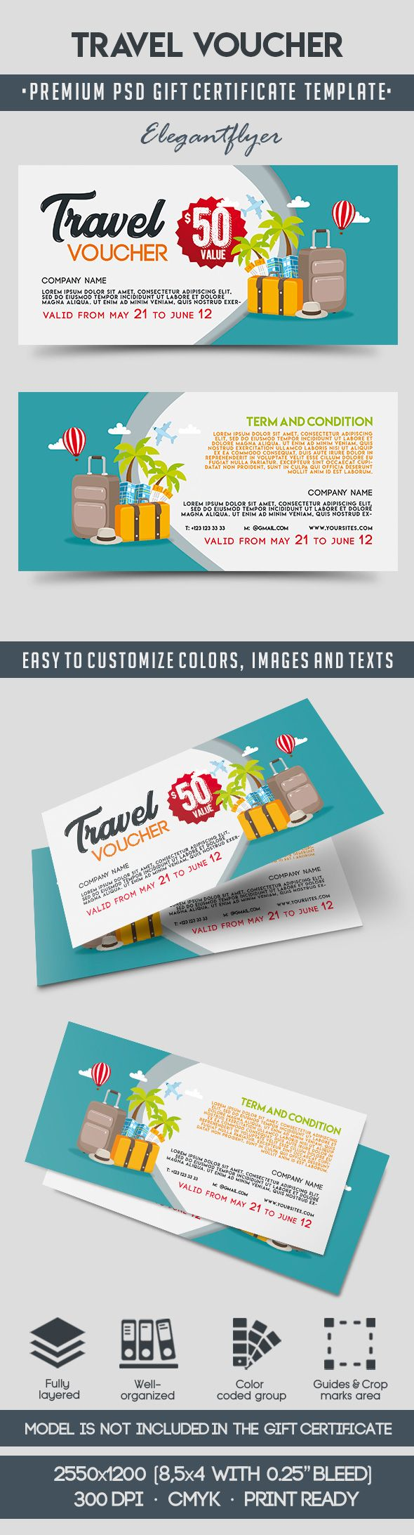 Travel Voucher Template By Elegantflyer