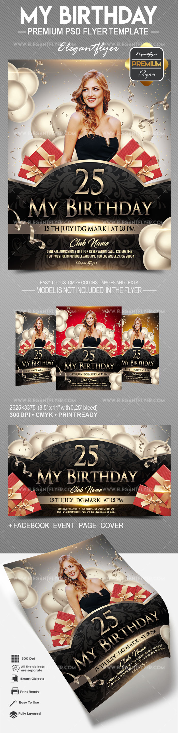My Birthday – Flyer PSD Template