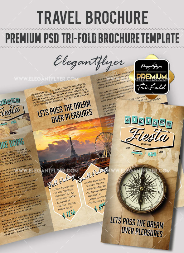 Free Vacation & Travel Brochure Templates in PSD and Premium Version!