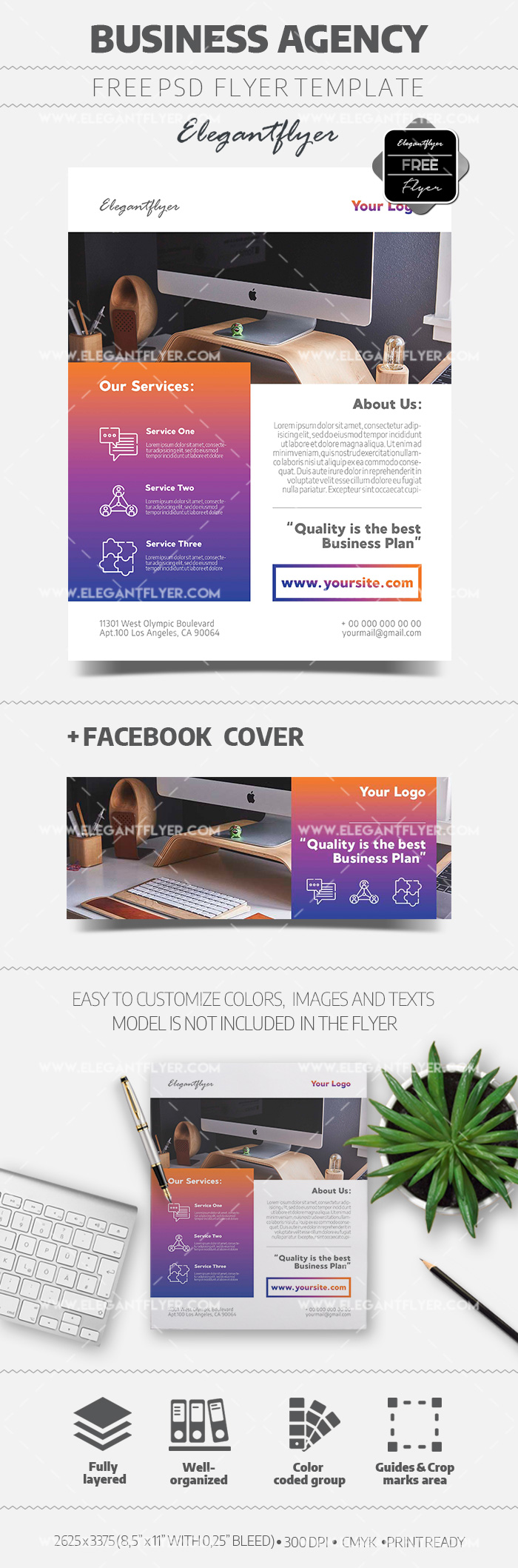 Business Agency – Free Flyer PSD Template