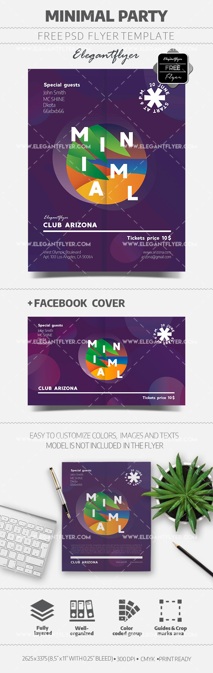 Minimal Party – Free Flyer PSD Template