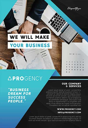 Business Company – Free Flyer PSD Template