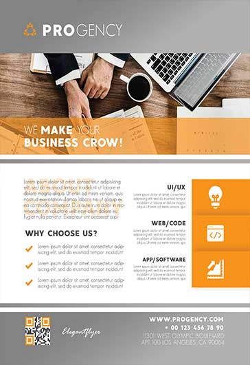 Business Company – Flyer PSD Template
