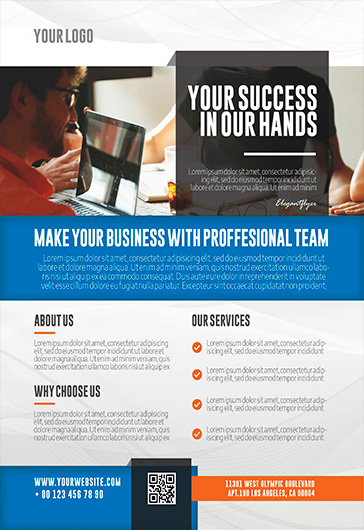 business agency free flyer psd template