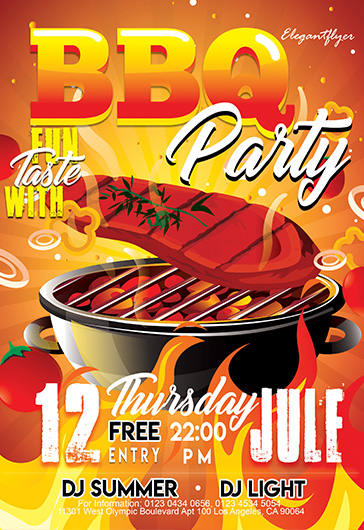 BBQ Party – Flyer PSD Template