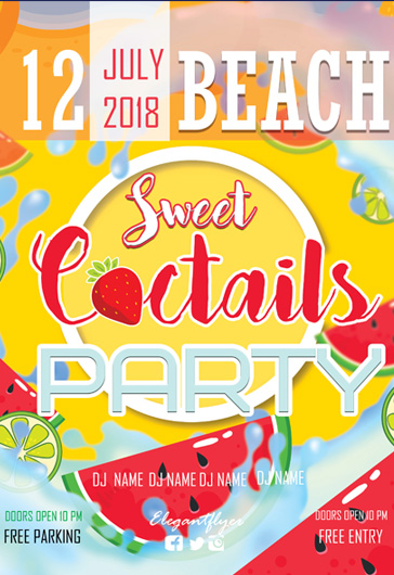 Coctail Party – Flyer PSD Template