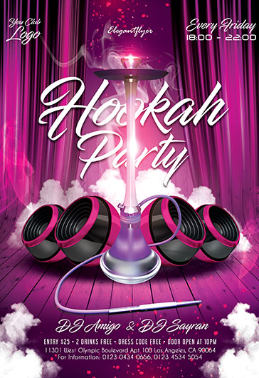 Hookah Party V03 – Flyer PSD Template