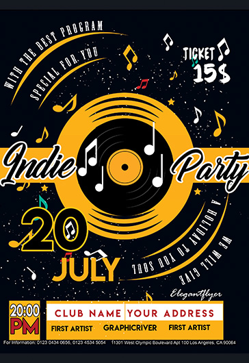 Indie Party – Flyer PSD Template