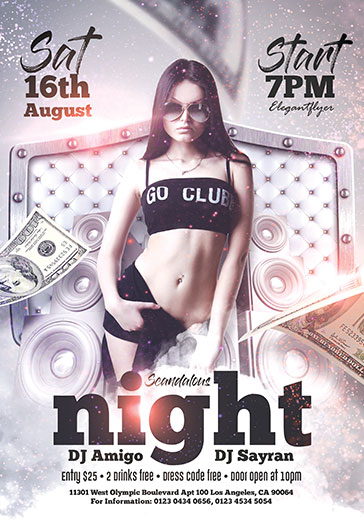 Night Punishment – Flyer PSD Template