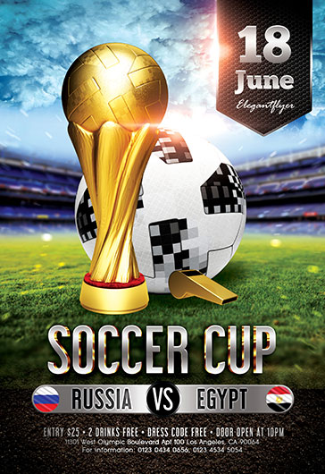Football Cup – Free 3d Render Templates