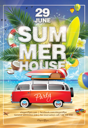 Summer House – Flyer PSD Template