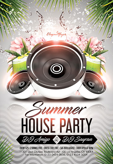 Summer Season Party – Flyer PSD Template