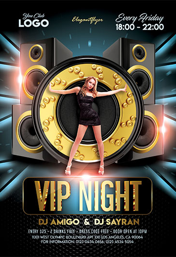 Late Night Party – Free Flyer PSD Template